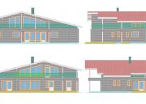 Финский деревянный дом Lattia